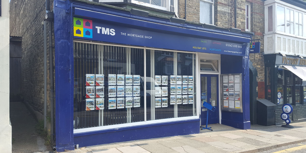 Image of the shopfront at The Mortgage Shop, Nelson Place, Broadstairs